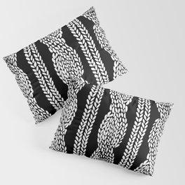 Cable Black Pillow Sham