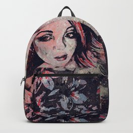 Ruined Our Everything: Red (graffiti flower lady portrait) Backpack