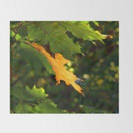 Gold Leaf Throw Blanket
