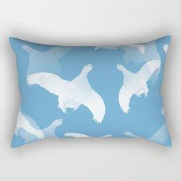 White Birds Against The Blue Sky #decor #society6 #homedecor Rectangular Pillow