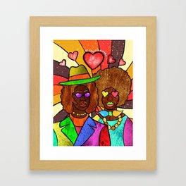70's Love Framed Art Print