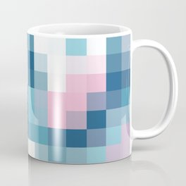 Mat Map Squares Aqua Coffee Mug