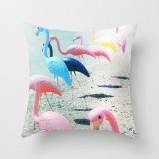 Flamingo Party Throw Pillow