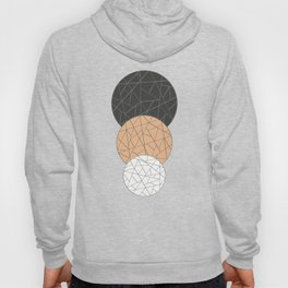TRIAD ON BEIGE (abstract circles) Hoody