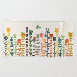Happy garden Beach Towel