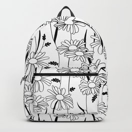 Daisies - black & white Backpack