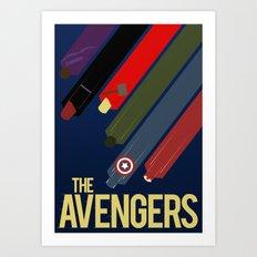 The Avengers Art Print