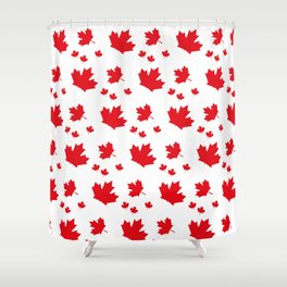 Canada Maple Leaf-Large-White Shower Curtain