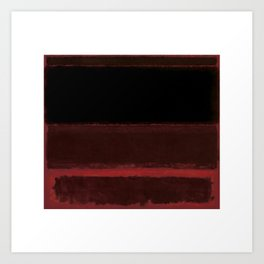 1958 Four Darks on Red by Mark Rothko Art Print