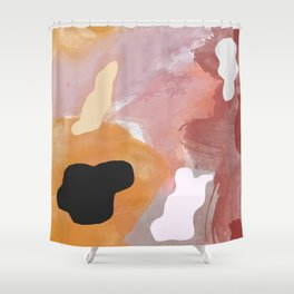 Fall Watercolor Brushstrokes Palette Shower Curtain