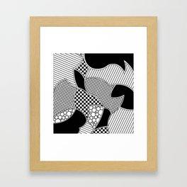 Line doodle Framed Art Print