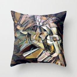 Marcel Duchamp Nude Descending a Staircase Throw Pillow