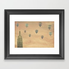 Balloons over the Empire Framed Art Print