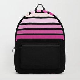 Pink Abstract Minimal Retro Stripes 70s Style - Nobuyasu Backpack