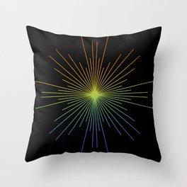 Full Spectrum Star Burst Throw Pillow