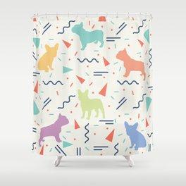French Bulldog Pattern Shower Curtain