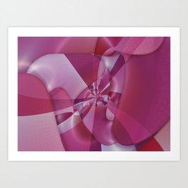 Pink Candy Loop Art Print