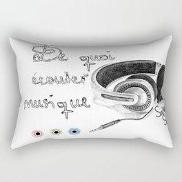 DE QUOI ECOUTER LA MUSIQUE Rectangular Pillow