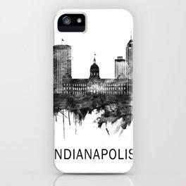 Indianapolis Indiana Skyline BW iPhone Case
