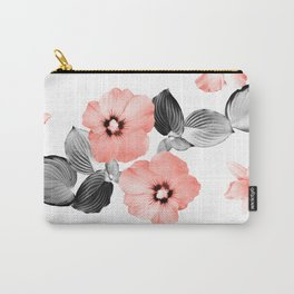 Living Coral Floral Dream #4 #flower #pattern #decor #art #society6 Carry-All Pouch