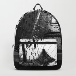 black and white architecture Backpack