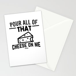 lactose-free cheeses saying Stationery Cards