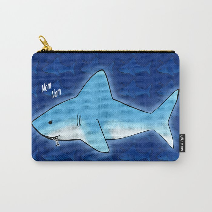 Nom Nom Shark Carry-All Pouch