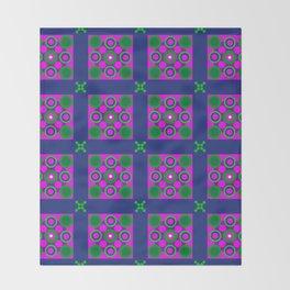 Disco Preppy Tiles Throw Blanket