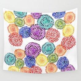 Dancing Dahlias Wall Tapestry