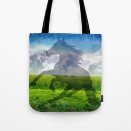 Horse fantasy Tote Bag