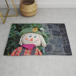 Smiling Scarecrow Rug