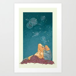 Half Woman, Half Universe Art Print