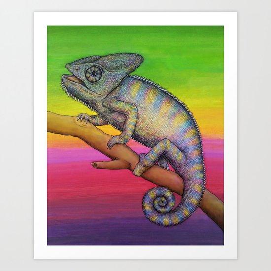 Chameleon (2) Art Print