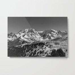 Mt. Blanc (Mono) Metal Print