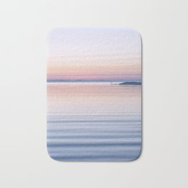 Pastel ripples sea and sky Bath Mat