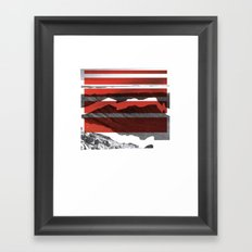 Red Terrain Framed Art Print
