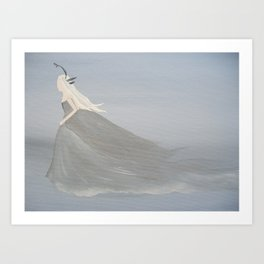 Winter Maiden - Original Acrylic on Canvas Artwork Art Print