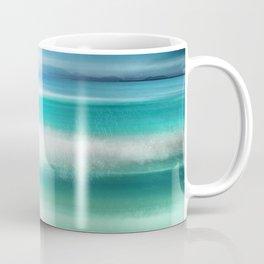 """""""Blue sky over teal sea South"""" Coffee Mug"""