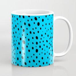 Blue Cheetah Pattern Coffee Mug