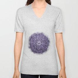 Vintage Lavender Watercolor Mandala Unisex V-Neck