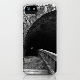 Paw Paw Grunge Tunnel - Black & White iPhone Case