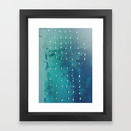 Boats on the Ocean Framed Art Print