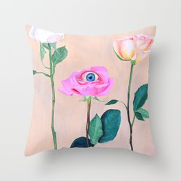 Beauty is in the Eye Throw Pillow