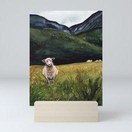 Sheep on a Hill Mini Art Print