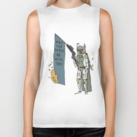 boba Biker Tanks featuring Boba by Lewis Farrow