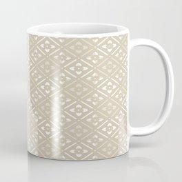 Tan Floral Coffee Mug