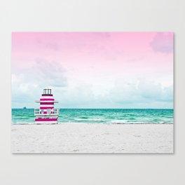 Ocean Breeze - Pink Beach Canvas Print