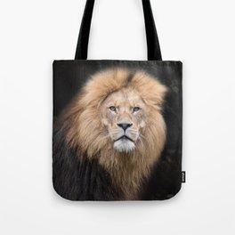 Closeup Portrait of a Male Lion Tote Bag