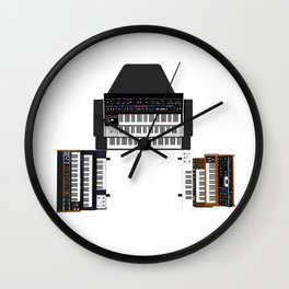 Vintage Keyboards / Synthesizers Wall Clock