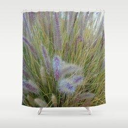 Purple Spikes Shower Curtain